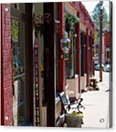 Thrift Shop And Sign In Manitou Springs Acrylic Print
