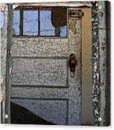Through A Broken Window Acrylic Print