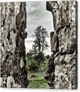 Through The Castle Window Acrylic Print