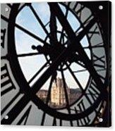 Through The Clock Acrylic Print
