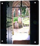 Through The Door Of St Mylor Acrylic Print