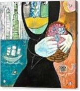 Through The Niqab Acrylic Print