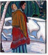 Through The Snow Acrylic Print