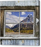 Through The Window Of The Past Acrylic Print