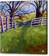 Throught The Pasture Gate Acrylic Print