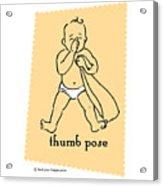 Thumb Pose Acrylic Print