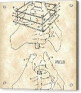 Thumb Wrestling Game Patent 1991 - Vintage Acrylic Print
