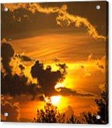 Thunder Mets Sunset Acrylic Print