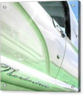 Thunderbird Abstract In Mint And White Acrylic Print