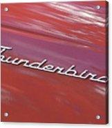 Thunderbird Car Nameplate Acrylic Print