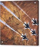 Thunderbirds In Diamond Roll Formation Acrylic Print