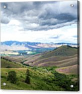 Thunderclouds Over The Hills Acrylic Print