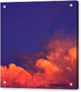 Thunderhead At Sunset Acrylic Print