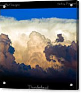 Thunderhead Cloud Color Poster Print Acrylic Print
