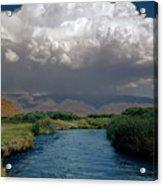 2a6738-thunderhead Over Owens River  Acrylic Print