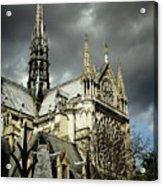 Thunderous Notre Dame Acrylic Print
