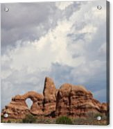Thunderstorm Clouds Over Turret Arch Acrylic Print