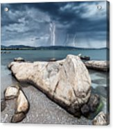 Thunderstorm  Acrylic Print by Evgeni Dinev