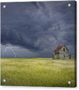 Thunderstorm On The Prairie Acrylic Print