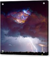 Lightning Thunderstorm Over Dacono Acrylic Print