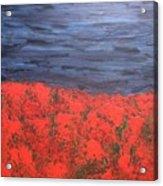 Thunderstorm Over The Poppy Field Acrylic Print