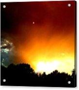 Thunderstorm Sunset Acrylic Print