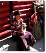 Tibetan Boy Acrylic Print
