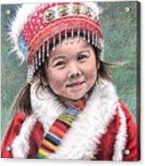 Tibetan Girl Acrylic Print