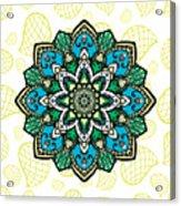 Tibetan Mandala Seamless Pattern Acrylic Print
