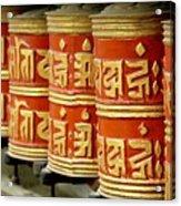 Tibetan Prayer Wheel  Acrylic Print