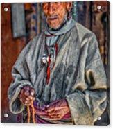 Tibetan Refugee Acrylic Print