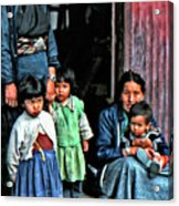 Tibetan Refugees Acrylic Print