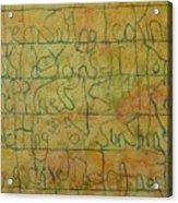 Tibetan Saying Acrylic Print