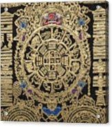 Tibetan Thangka - Tibetan Astrological Diagram Acrylic Print