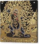 Tibetan Thangka - Vajrapani - Protector And Guide Of Gautama Buddha Acrylic Print