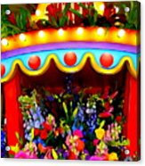 Ticket Booth Of Flowers Acrylic Print
