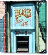 Ticket Window For Show Tickets Acrylic Print
