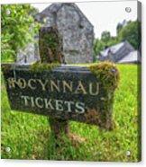 Tickets Sign Acrylic Print