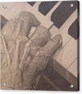 Tickling The Ivory Acrylic Print