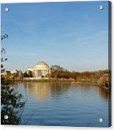 Tidal Basin And Jefferson Memorial Acrylic Print