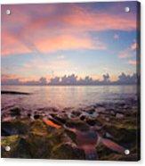 Tidal Pools At Sunrise Acrylic Print