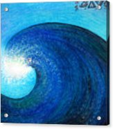 Tidal Wave. Power And Beauty Acrylic Print
