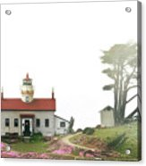 Tides Of Battery Point Lighthouse - Northern Ca Acrylic Print