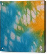 Tie Dye In Yellow Aqua And Green Acrylic Print