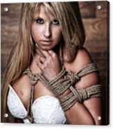 Tied Arm Portrait - Fine Art Of Bondage Acrylic Print