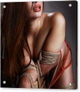 Tied Asian Girl Acrylic Print by Rod Meier