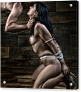 Tied Nude Submission And Domination - Fine Art Of Bondage Acrylic Print by Rod Meier