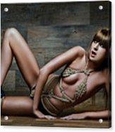 Tied Rope Bikini - Fine Art Of Bondage Acrylic Print by Rod Meier