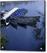 Tied To The Dock Acrylic Print
