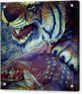 Tiger And Deer Acrylic Print